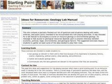 Ideas for Resources: Geology Lab Manual Lesson Plan
