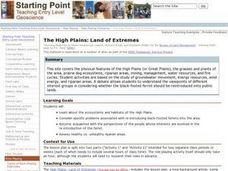 The High Plains: Land of Extremes Lesson Plan