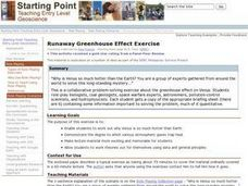 Runaway Greenhouse Effect Exercise Lesson Plan