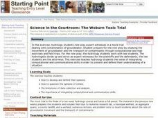 Science in the Courtroom: The Woburn Toxic Trial Lesson Plan