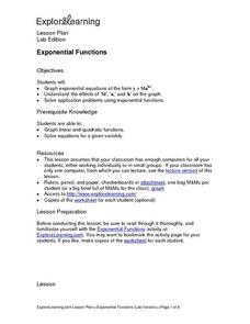 Explore Learning Exponential Functions Lesson Plan
