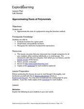 Approximating Roots of Polynomials Lesson Plan