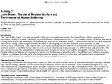 Land-Mines: The Art of Modern Warfare and  The Horrors of Human Suffering Lesson Plan