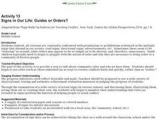 Signs in Our Life: Guides or Orders? Lesson Plan