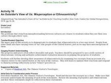 An Outsider's View of Us: Misperception or Ethnocentricity? Lesson Plan