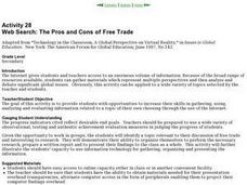 Web Search: The Pros and Cons of Free Trade Lesson Plan