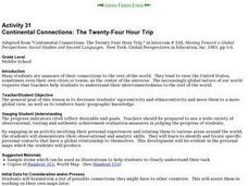 Continental Connections: The Twenty-Four Hour Trip Lesson Plan