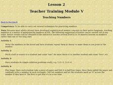 Teaching Numbers Lesson Plan