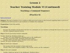 Teaching a Command Sequence Lesson Plan