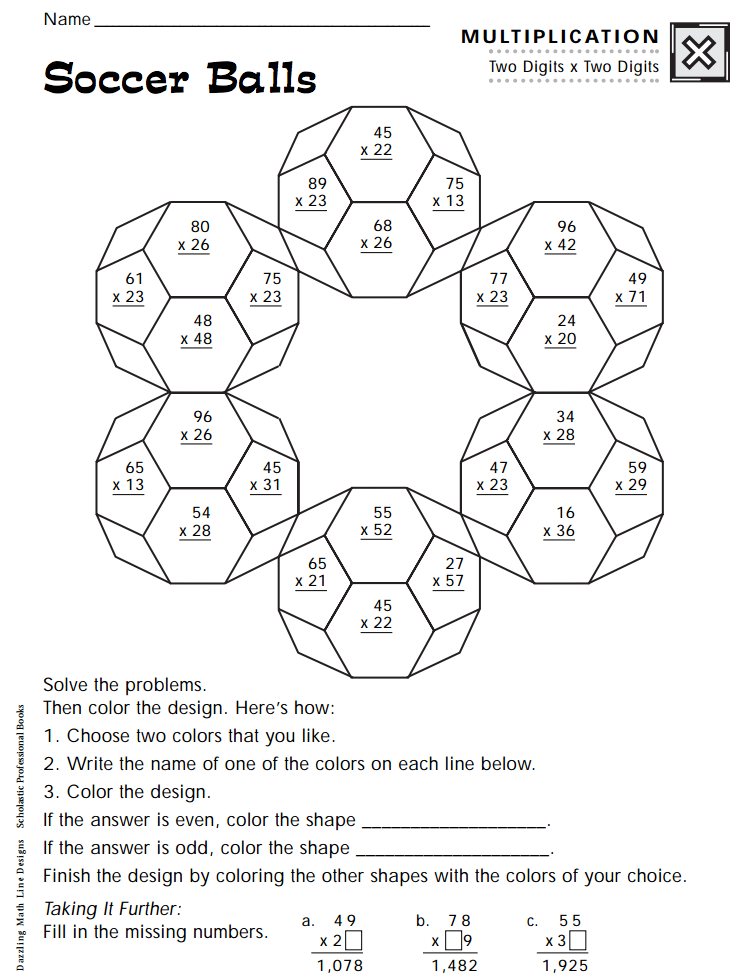 Soccer Balls Worksheet