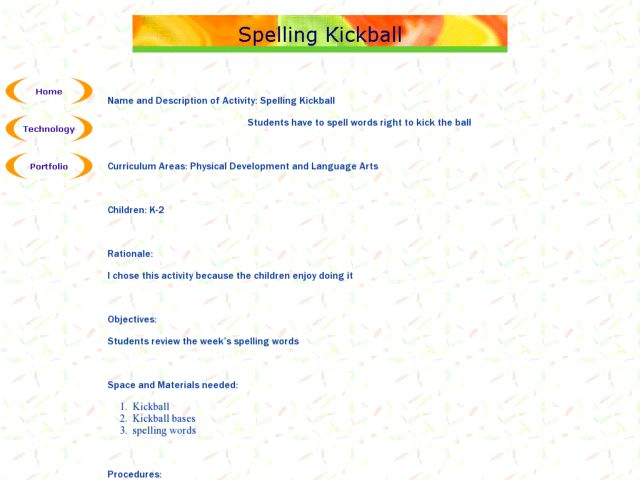 Spelling Kickball! Lesson Plan