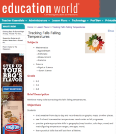 Tracking Fall's Falling Temperatures Lesson Plan