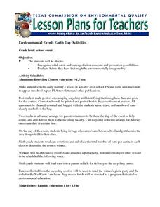 Environmental Event: Earth Day Activities Lesson Plan