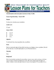 Conserving Electricity: Turn It Off Lesson Plan