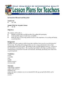 In Search of Reused and Recycled Lesson Plan