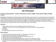 Air Pressure Lesson Plan