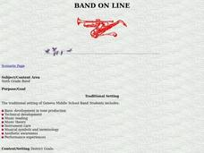 Band On Line Lesson Plan