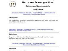 Hurricane Scavenger Hunt Lesson Plan