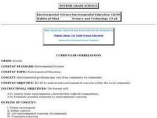 Environmental Education (Grade 4) Lesson Plan