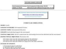 Environmental Education (Grade 4 - Lesson 2) Lesson Plan
