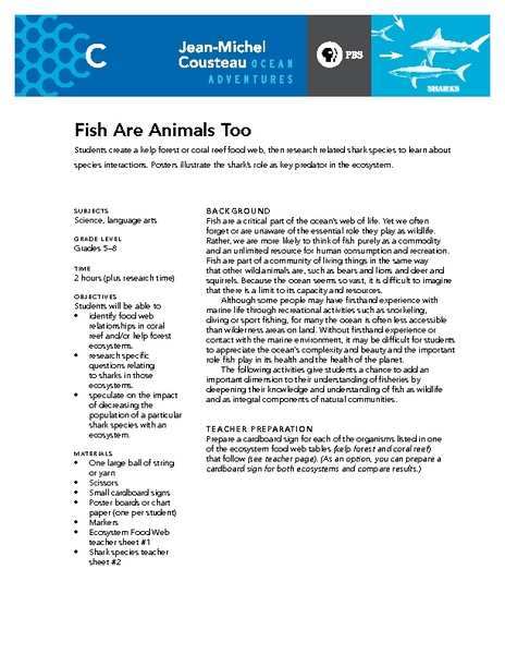 Fish Are Animals Too Lesson Plan