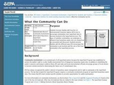 What the Community Can Do Lesson Plan