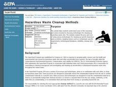 Hazardous Waste Cleanup Methods Lesson Plan