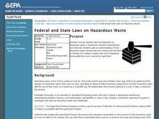 Federal and State Laws on Hazardous Waste Lesson Plan