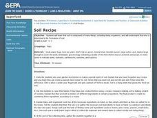 Soil Recipe Lesson Plan