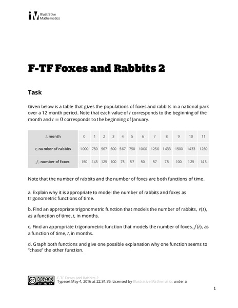 Foxes and Rabbits 2 Assessment