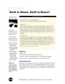Earth to Saturn, Earth to Saturn! Lesson Plan