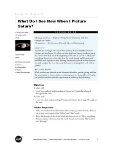What Do I See Now When I Picture Saturn? Lesson Plan
