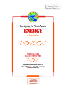 Investigating the Climate System: Energy, A Balancing Act Lesson Plan