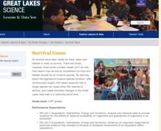 Survival Game Lesson Plan