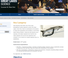 Sea Lamprey Lesson Plan