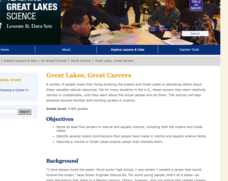 Great Lakes, Great Careers Lesson Plan