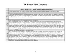 Now Hear This! Lesson Plan