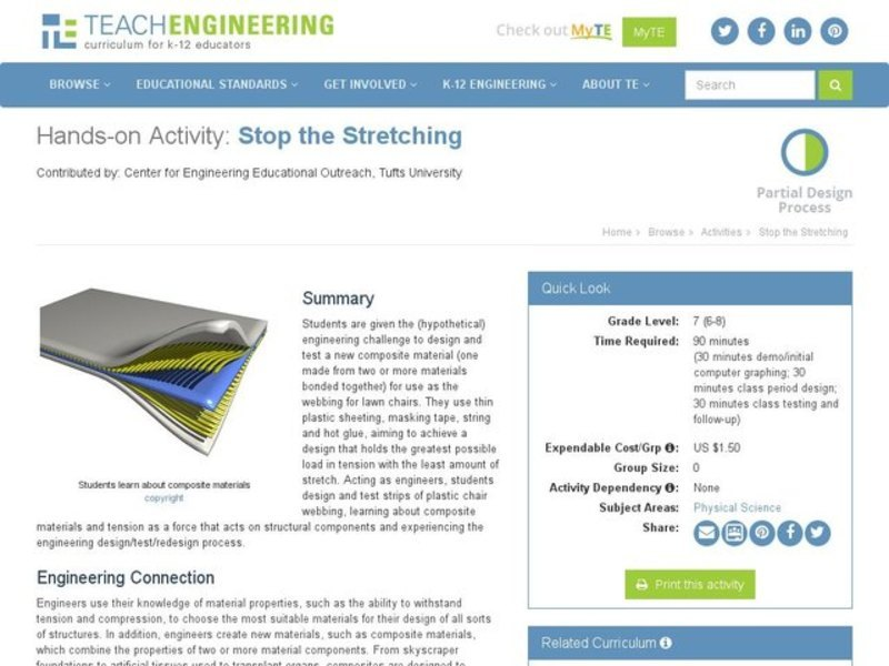 Stop the Stretching Activities & Project