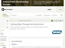 Cycling Water Through the Environment Lesson Plan