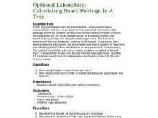 Optional Laboratory: Calculating Board Footage in a Tree Lesson Plan