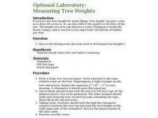 Optional Laboratory: Measuring Tree Heights Lesson Plan