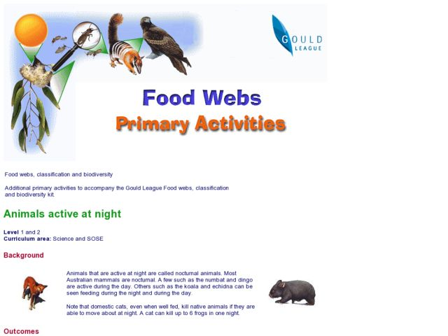 Animals Active at Night Lesson Plan