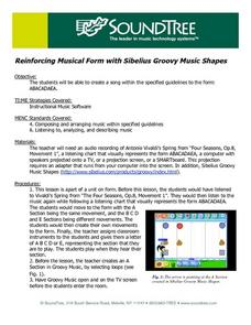 Musical Form and Sibelius Groovy Music Shapes Lesson Plan