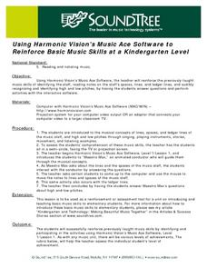 Using Harmonic Vision's Music Ace Software to Reinforce Basic Music Skills Lesson Plan