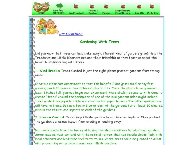 Little Bloomers: Gardening With Trees Lesson Plan