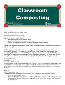 Classroom Composting Lesson Plan