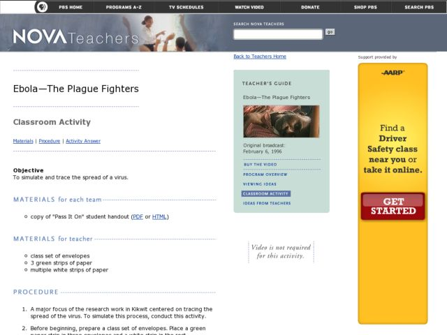 Ebola-The Plague Fighters Lesson Plan