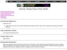 Warped Space-Time Model Lesson Plan