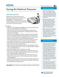 Saving the National Treasures Lesson Plan