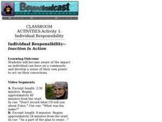 Individual Responsibility--Inaction Is Action Lesson Plan